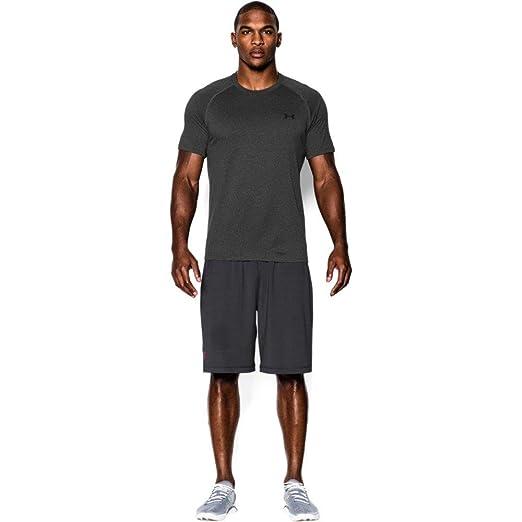 991234b7d8b96 Under Armour Men's Tech Short Sleeve T-Shirt, Carbon Heather /Black, Small