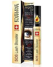 Eveline Cosmetics SOS wimperserum voor wimperverlenging, 10 ml, verdikt en geregenereerd, snelle groei, verdubbelt de dichtheid, met arganolie, dermatologisch getest