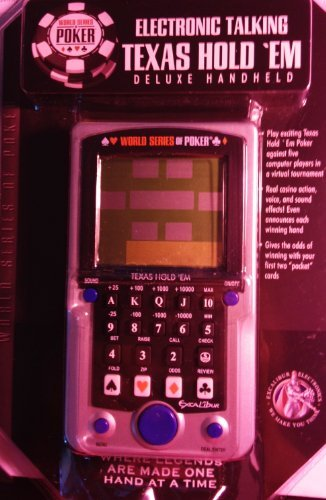 World Series of Poker Electronic Talking Texas Holdem Deluxe Handheld (Best No Limit Hold Em Player In The World)