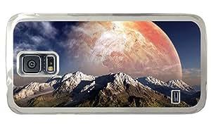 Hipster Samsung Galaxy S5 Case designer fantasy planet mountains PC Transparent for Samsung S5