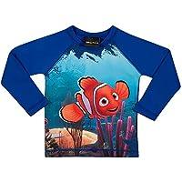 Camiseta Praia Manga Longa Nemo, TipTop, Azul Royal, 4T