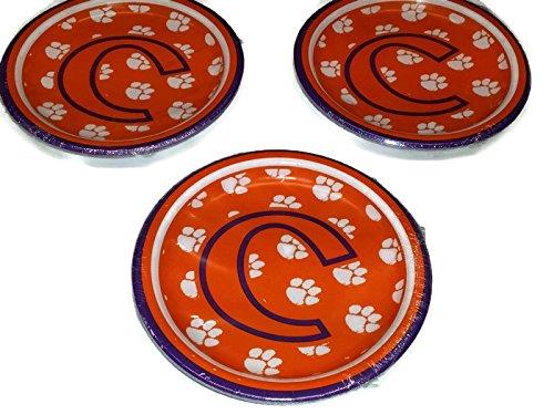 Clemson Tigers Bowl Game - Clemson Tigers Dessert Paper Plates (24 Count) Bundle