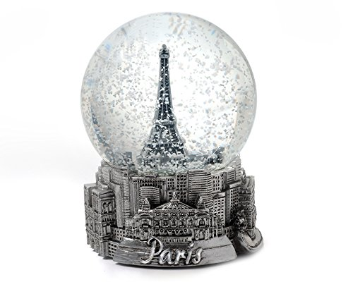 Paris France Eiffel Tower Snow Globe 65mm