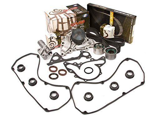 Evergreen TBK259MHVC Fits Dodge Mitsubishi Eclipse Montero 6G72 6G73 Timing Belt Kit Valve Cover Gasket GMB Water ()