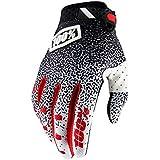 Inconnu 100% Ridefit Unisex Adult Mountain Bike Glove, Black/White