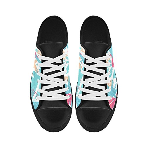 InterestPrint Palm Tree Leaves Pattern Aquila Men Sneakers Trainer Fitness Leather Shoes 5HDDYxB