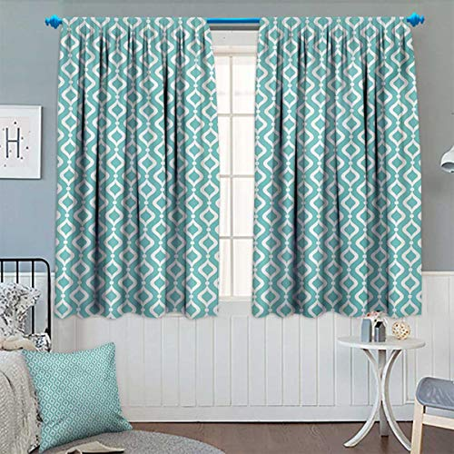- Chaneyhouse Modern Thermal Insulating Blackout Curtain Vertical Oval Shapes Pattern with Dots Waves Artistic Curves Abstract Design Patterned Drape for Glass Door 63