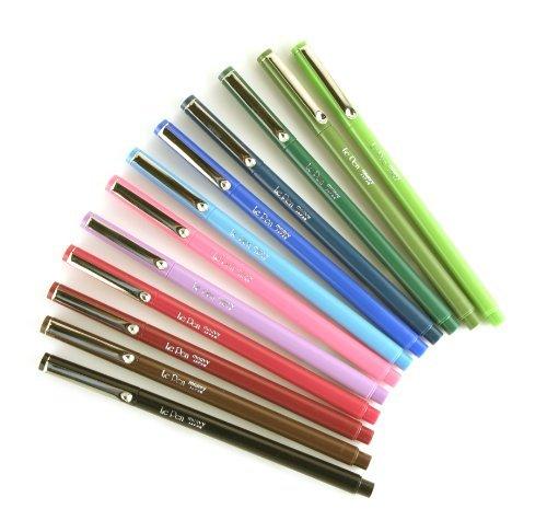 Marvy (4300S-12pk) Le Pen, 12 Color Set, Dozen (Micro Fine Point) by Marvy Uchida