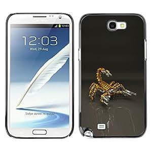 YiPhone /// Prima de resorte delgada de la cubierta del caso de Shell Armor - Scorpion Bot Mech Robot - Samsung Galaxy Note 2 N7100