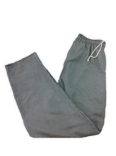 Houndstooth Drawstings Chef Pants (XXL)