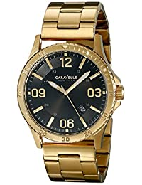 Bulova Caravelle New York Men's 44B104 Analog Display Japanese Quartz Yellow Watch