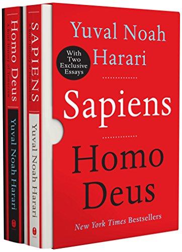 Book cover from Sapiens/Homo Deus box set by Yuval Noah Harari