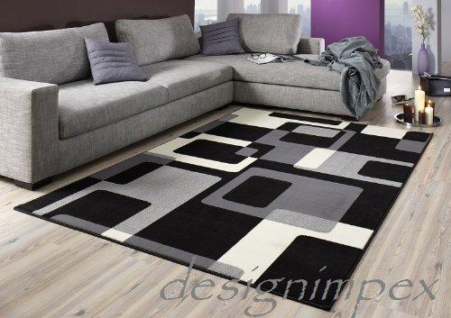 Design teppich retro cm grau weiß schwarz ut neu