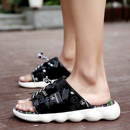 8 Zapatos Qidi Playa Hombres Temporada Sandalias Tamaño Verano Rojo Pu 5 De Eu41 color Negro uk7 Azul Eva Rojo qqvUxr