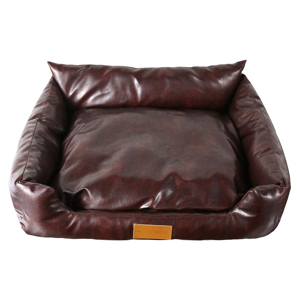 60x50x24cm JINGC Pet Bed, PU Leather Kennel, Waterproof Moisture Proof And Bite Resistant,60X50x24cm