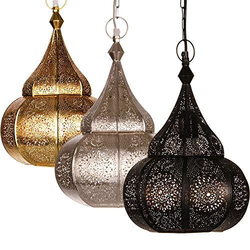 Moroccan Lamp Ceiling Lights Malha 50cm Large Gold E14 SocketOriental Style