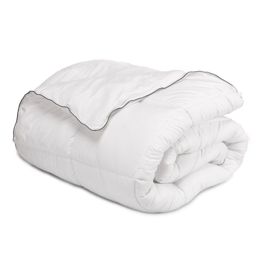 Bedsure Full/Queen Comforter Duvet Insert with Corner Ties-Quilted Down Alternative Comforter Box Stitching Design White 88''x88'' by