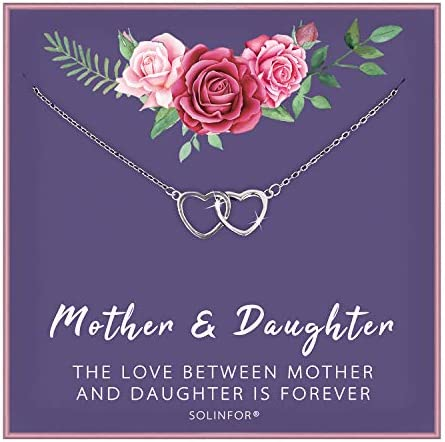 SOLINFOR Mother Daughter Necklace Interlocking product image