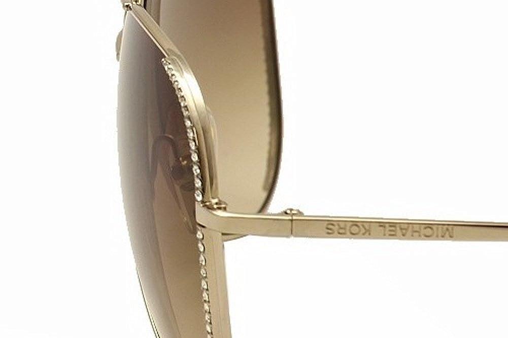fa26f89d27f8 Amazon.com: Michael Kors Sadie Crystal Aviators - M2062S (Gold): Clothing