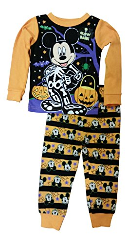 Disney Mickey Mouse Little Boys Toddler Halloween Pajama Set (Mickey Mouse Clothes For Toddler Boy)