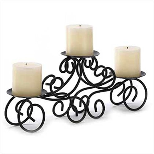 Candelabra Candle Stand Large Candleholder Black Wedding Centerpiece