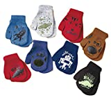 Toddler Gripper Mitten Sets for Boys Fits Most Ages 2-4 Years (8 Pair)