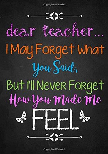 teacher appreciation gift dear teacher notebook or journal