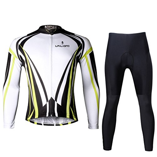 Paladinsport Autumn And Spring Men's Yellow Long Sleeve Bicycle Clothing Breathable Riding Apparel And Pants Set Size - Clothing Brand Liv