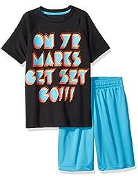 Brand - Conjunto de camiseta y pantalón corto de mangas cortas para niños y niños Zebra Spotted