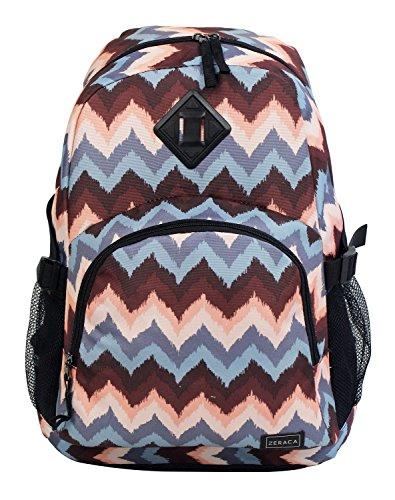 Zeraca Great Deals Large Student Backpacks School Book Bags (Brown Wave)