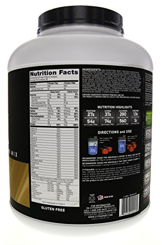 CytoSport Cyto Gainer Protein Powder, Chocolate Malt, 54g Protein, 6 Pound