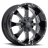 Vision 420 Locker 20x9 5x4.5''/5x5'' +10mm Black/Milled Wheel Rim