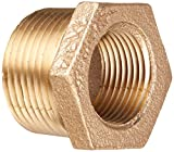 Merit Brass XNL114-1612 Lead Free Brass Pipe Fitting, Hex Bushing, Class 125, 1'' NPT Male x 3/4'' NPT Female (Pack of 25)