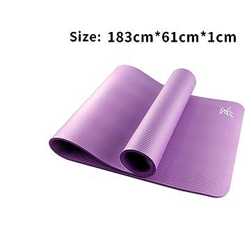 LMSHM Yoga Mat Antideslizante Estera De Yoga 10 Mm Fitness ...