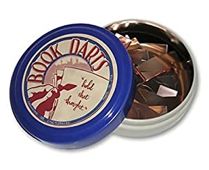 Book Darts Line Markers 125 Count Tin Mixed Metals Bookmarkers