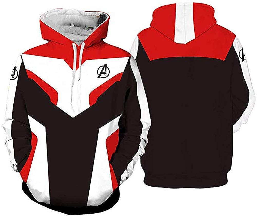 Mens Hoodie 3D Printed The Avengers Endgame Comics Infinity War Quantum Long Sleeve for Teen