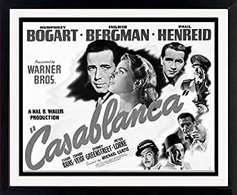 Amazon.com: Casablanca Movie Poster Framed Print: Clothing