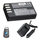 Amsahr S-DLI109 Digital Replacement Battery Plus Travel Charger for Pentax D-LI109, K-r, K2 with Lens Accessories Pouch (Gray)