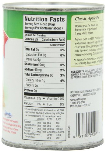 Wilderness No Sugar Added Pie Filling & Topping, Apple, 20 Ounce (Pack of 12) by Wilderness (Image #3)