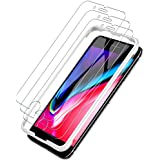 LK [3 PACK] iPhone 8 Screen Protector, [Tempered Glass][Case Friendly] DoubleDefence [Alignment Frame Easy Installation] with Lifetime Replacement Warranty