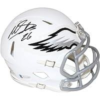 $89 » Miles Sanders Autographed Philadelphia Eagles Flat White Mini Helmet BAS