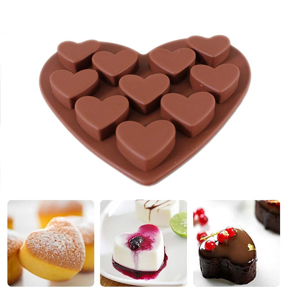Longay Love Heart Shaped Silicone Molds Fondant Cake Chocolate Mold