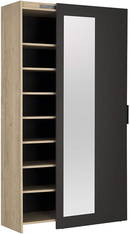 Meuble Rangement Chaussures Avec Miroir Adam Fabrication Francaise Amazon Fr Bricolage