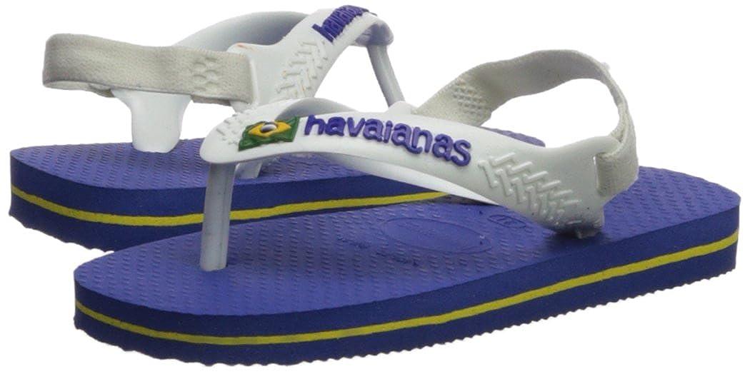 c82ae66f4 Infant Toddler Havaianas Kids Flip Flop Sandal Brazil Logo with Backstrap