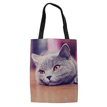 ZXXFR Cat Bolsas De Compras Ropa De Lienzo Viajes Cute ...