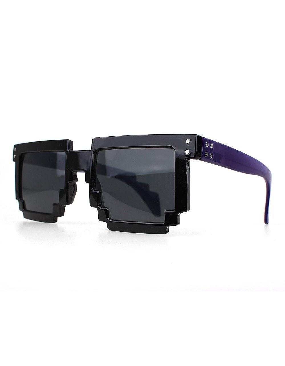 Distressed Gafas de sol pixeladas en estilo retro años 70 ...