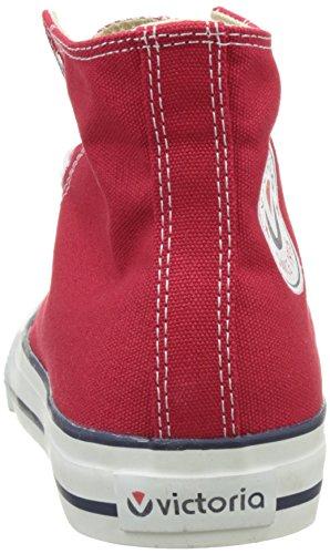 victoria Unisex-Erwachsene Botin Basket autoclave Hausschuhe, Schwarz, 42 EU Rot (Rojo)