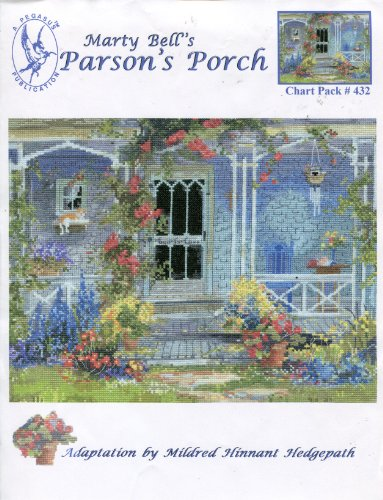 Cottage Marty Bell (Marty Bell's Counted Cross Stitch Kit 1447 Rose Bower Cottage)