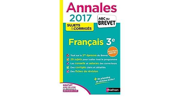 Annales Français 3e : Sujets & corrigés Annales ABC du Brevet: Amazon.es: Thomas Bouhours, Céline Mimouni, Maria-Antonia Pinto, Laure Genet, ...