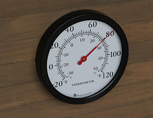 12-Steel-Enclosure-Decorative-Indoor-Outdoor-Patio-Wall-Thermometer